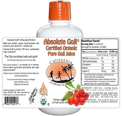Absolute Goji 100 Percent Pure Goji Juice 32 oz
