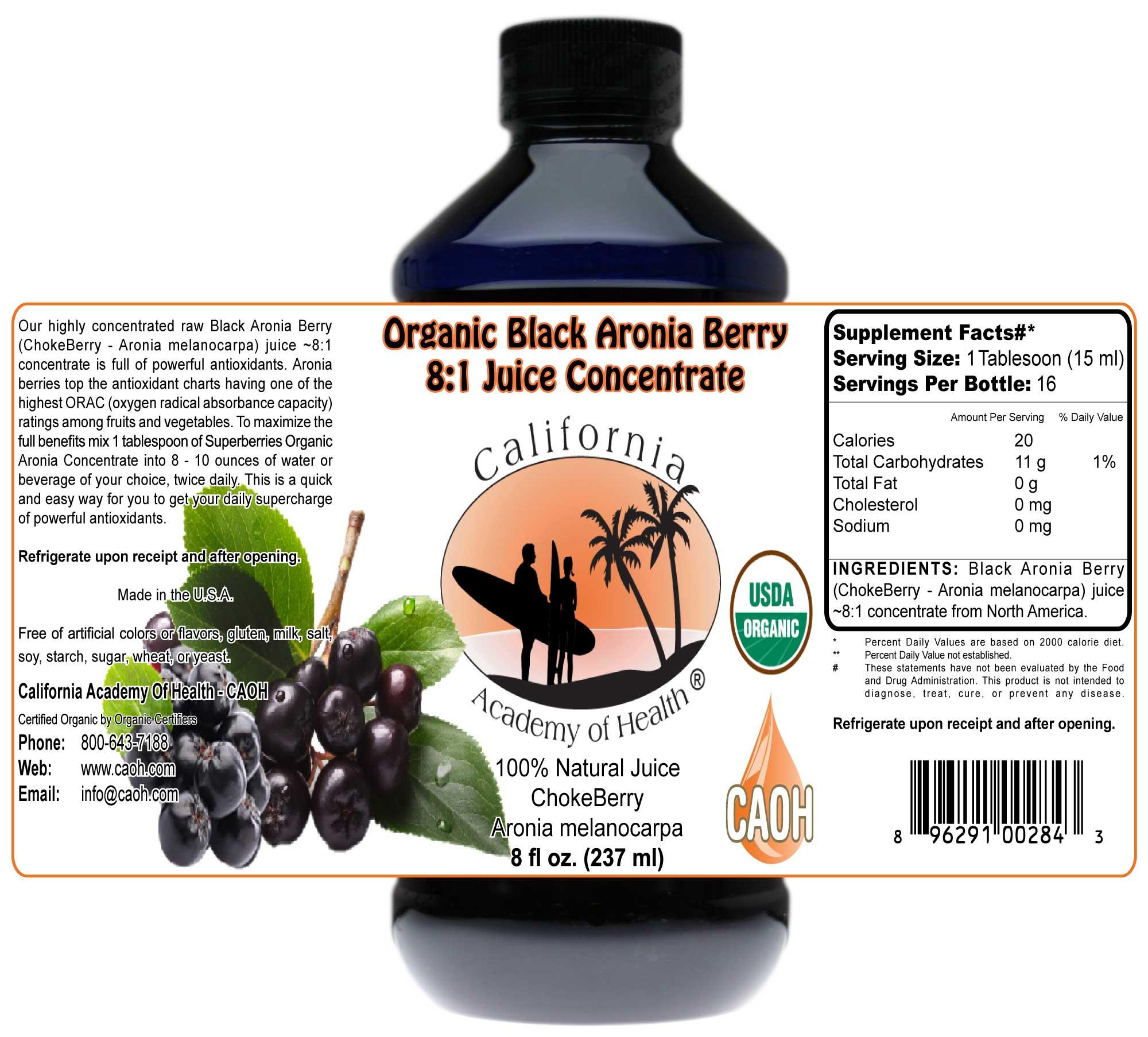 Black Aronia Berry Chokeberry Aronia Melanocarpa Juice 8 1 C