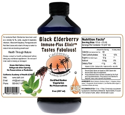 Black Elderberry Immune Plus Elixir 8 oz