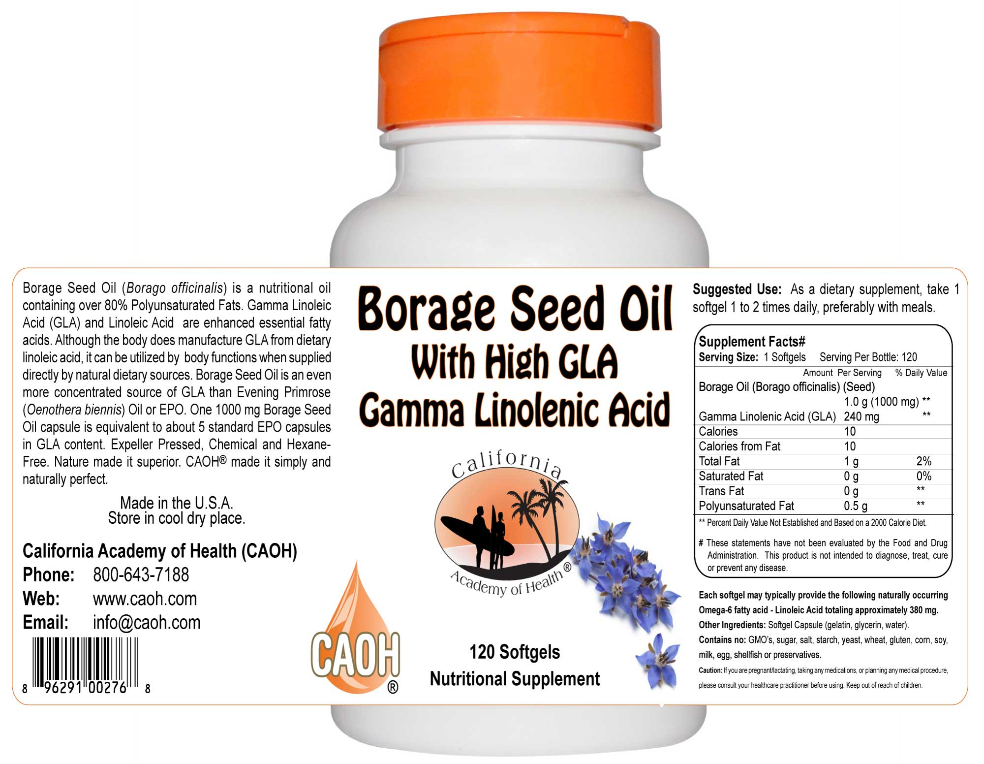 Borage Seed Oil High GLA