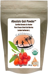 Organic Absolute Goji Powder 4 oz Bag
