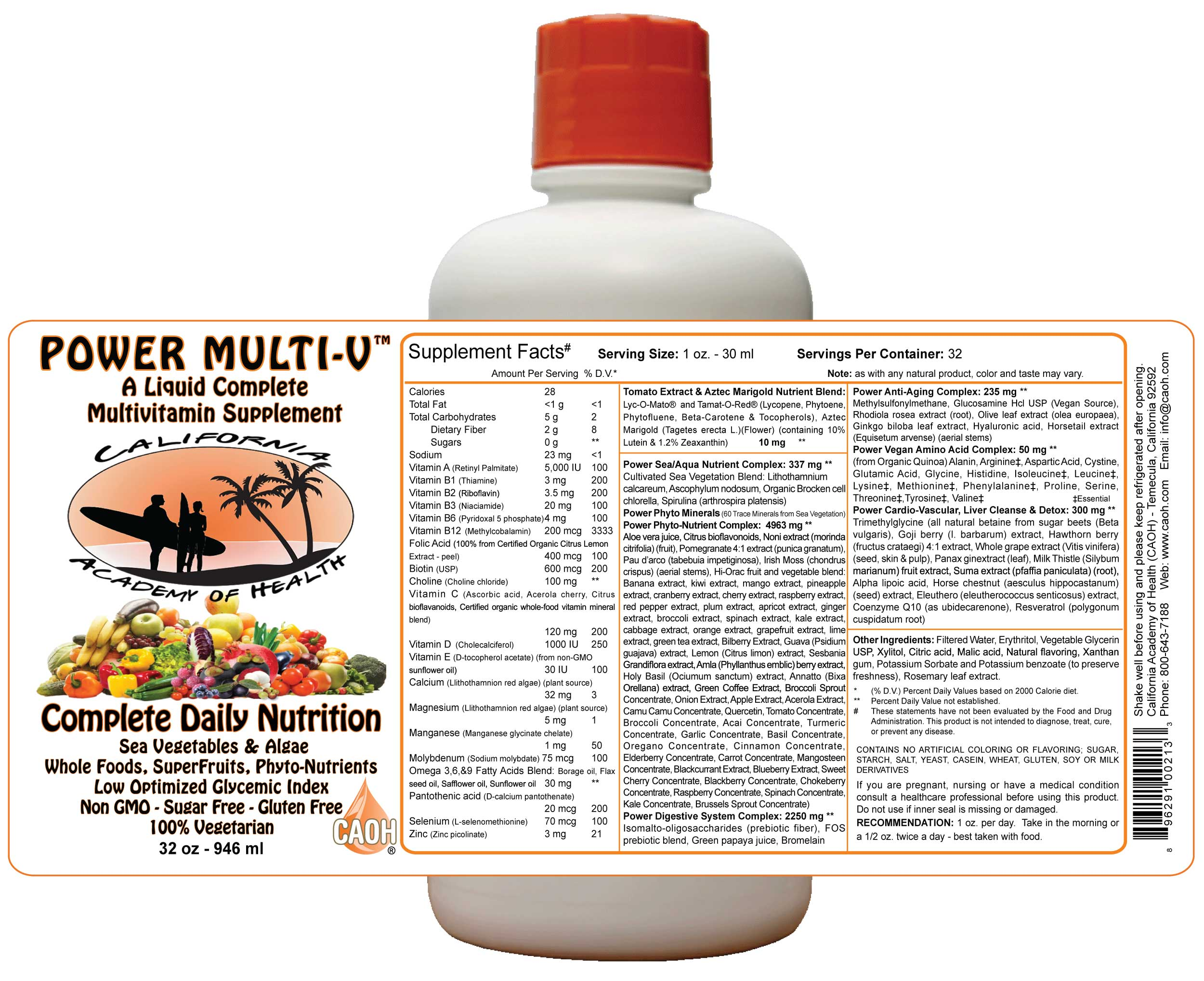 Liquid Power Multivitamins 32 oz