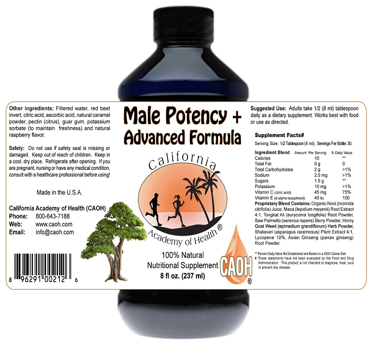 Male Potency Plus Advanced Formula 8 oz