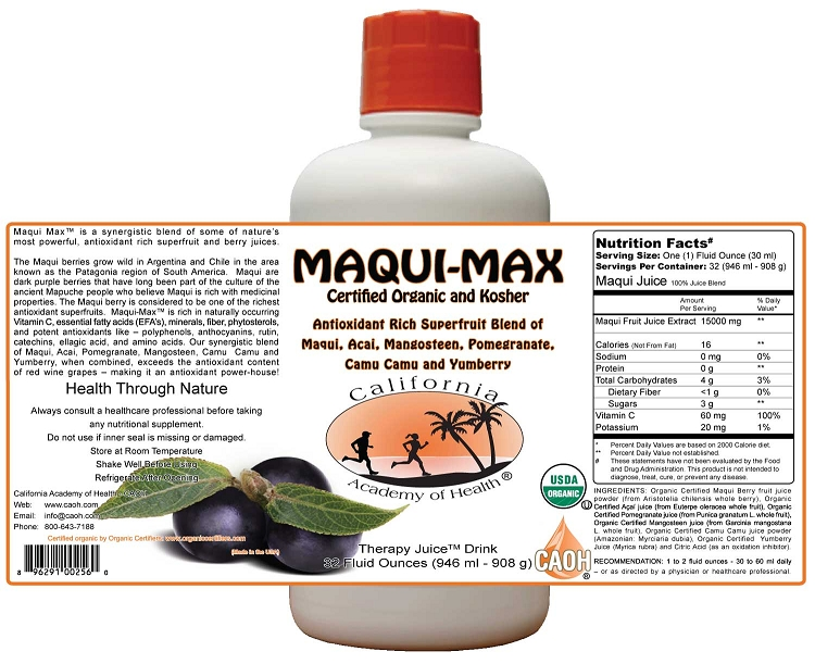 Maqui Max 32 Oz Organic Juice Elixir R00256