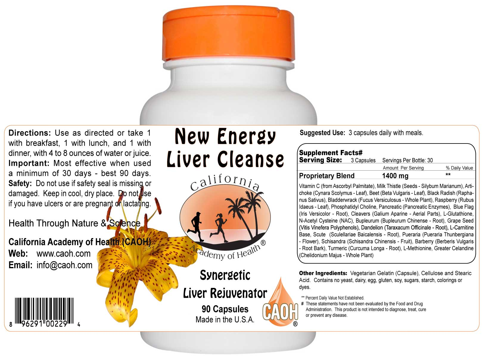 New Energy Liver Rejuvenator Capsules
