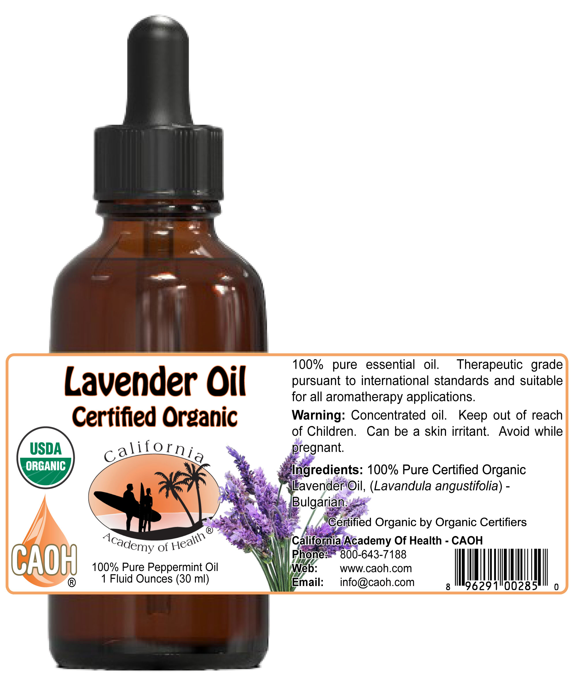 Organic Lavender Oil 15 ml