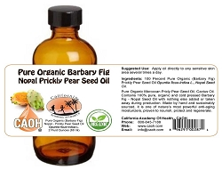 100 Percent Pure Raw Barbary Fig Prickly Pear Nopal Seed Oil 2 oz