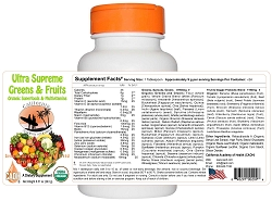 Organic Ultra Supreme Greens and Fruits Powder 8.57 oz