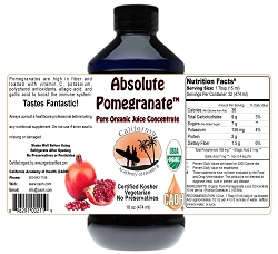 Absolute Pomegranate Juice 5:1 Concentrate 16 oz Organic