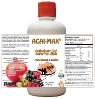 Acai Max a 32 oz Juice Blend Made with Organic Ingredients