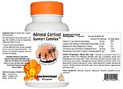 Complex Adrenal Cortisol Support 90 Capsules