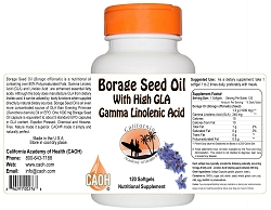 Borage Seed Oil High GLA 1000 mg 120 Softgels