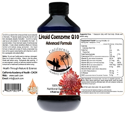 Liquid Coenzyme Q10 With gamma Y-Oryzanol Vitamins C and E 4 oz