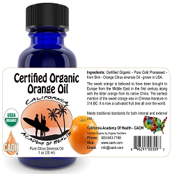 Organic Orange Citrus Sinensis Oil 30 ml 1 oz
