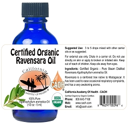 Ravensara 100% Pure Organic Essential Oil 1/2 oz 15 ml Bottle