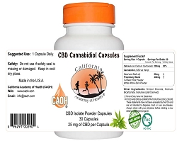 CBD Isolate - Cannabidiol Capsules - by CAOH