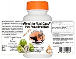 Pure Freeze Dried Noni In Convenient Vegicaps 90 450mg