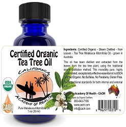 Organic Tea Tree Melaleuca Alternifolia Oil 60 ml 2 oz