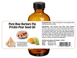 100 Percent Pure Raw Barbary Fig Prickly Pear Seed Oil 2 oz