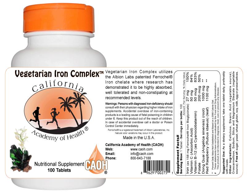 Vegetarian iron supplements