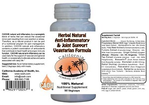 Herbal Natural Anti Inflammatory and Joint Support Vegetarian Formula