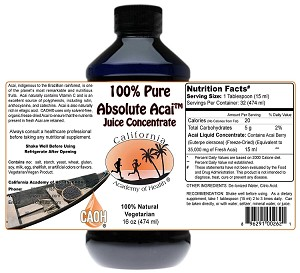 Pure Acai Juice Concentrate 16 oz