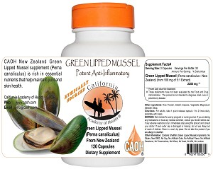 Green Lipped Mussel Perna canaliculus from New Zealand 120 Capsules 2250 mg