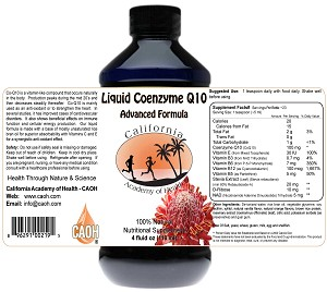 Liquid Coenzyme Q10 With gamma Y-Oryzanol Vitamins C and E 8 oz