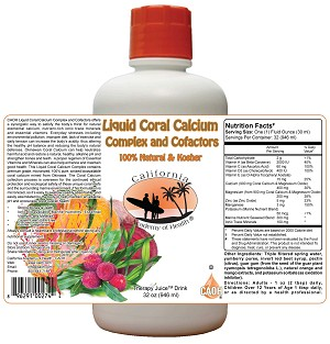 Liquid Coral Calcium Complex and Cofactors 32 oz