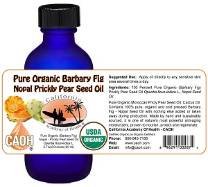 Pure Organic Raw Barbary Fig Prickly Pear Nopal Seed Oil 2 oz