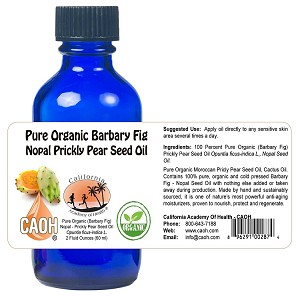 100 Percent Pure Organic Raw Barbary Fig Prickly Pear Nopal Seed Oil 2 oz