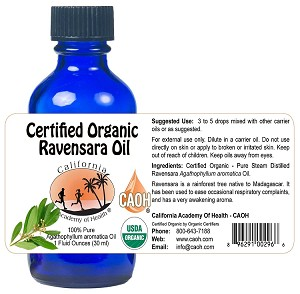 Ravensara 100% Pure Organic Essential Oil 1 fl oz (30 ml) Bottle